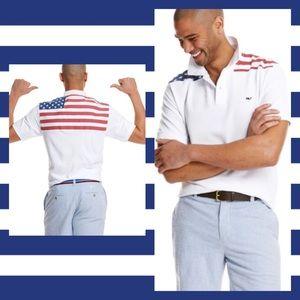 Vineyard Vines Classic Fit American Flag S…